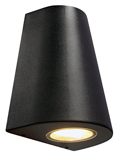 cone-shape-outdoor-wall-light-stainless-steel-black-finish-exterior-single-downlight-zlc068b