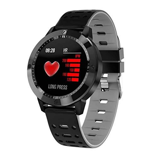 Lg-jz Smart Watch Smart Bracelet HD Color Round Screen Waterproof Blood Pressure Heart Rate Bluetooth Sports Wear Bracelet (color : Silver)
