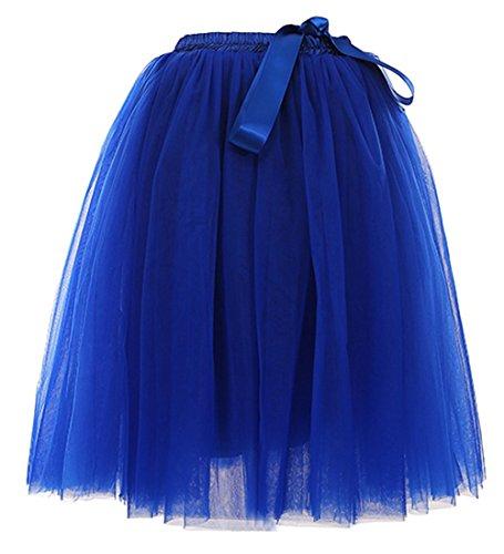 hten 65cm Knielang Tüllrock Midirock Tüll Kleid Rock Königsblau (Halloween Kostüme Für Mädchen Im Alter Von 9 10 Jahren)