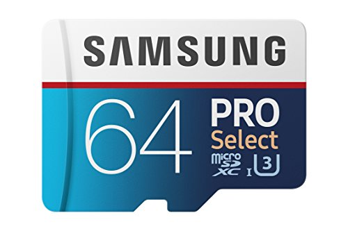 Samsung 100MB/s (U3) MicroSD PRO Select Memory Card with Adapter 64 GB (MB-MF64GA/AM)