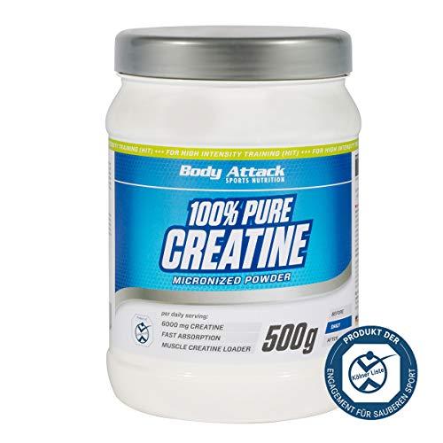 Body Attack 100% Pure Creatine - Pures Creatine Pulver 500g geschmacksneutral