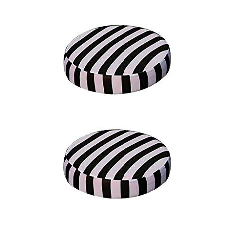 Sharplace 2X Fodera Coprisgabello in Tessuto Spandex Cuscino Pad per Sedia Rotonda Home Decor - Striscia