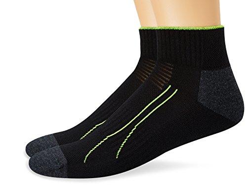 Puma Herren Socken PERFORMANCE TRAIN QUARTER 2P, black, 43-46, 261008001 - Adidas Court Sport Kurz