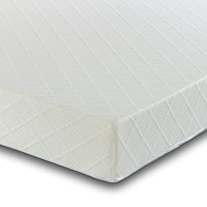 4Ft6 Double Reflex Foam Mattress with Two Pillows - Orthopaedic Support - Hypoallergenic - Firm