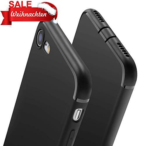 wsky Hülle für iPhone 8 iPhone 7, Handyhülle für iPhone 7 iPhone 8 Ultra Dünn Schutzhülle, Staubschutz, Stoßdämpfend, Anti-Scratch, Soft Cover für iPhone 7/8, Schwarz(4,7 Zoll)