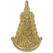 Medalla Religiosa - Medalla Silueta Virgen del Rocío 13x16 mm. Oro de 18 K (