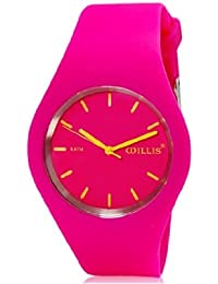 Willis 9220 Trendy Children'S Analog Watch With Silicone Strap (Rose Red)