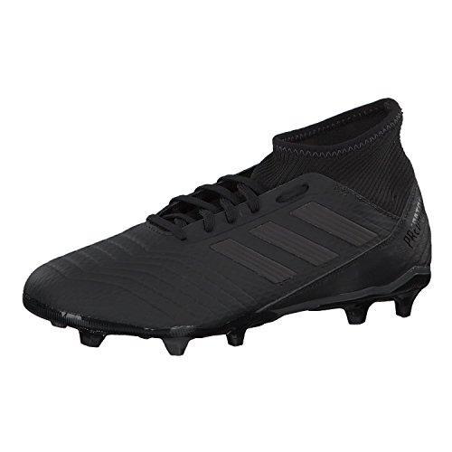 adidas Predator 18.3FG- Fußballschuhe für Herren, (Harte Böden, Erwachsene, Herren, Sohle mit Stollen, Schwarz, Einfarbig)