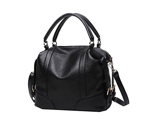 Yy.f Neue Art Und Weise Retro-Mode-Handtaschen Kissen Frau Tragbar Schulterkurierbeutel Handtasche Multicolor Black