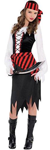 en Piratinnen Kostüm, Karneval, Fasching, Halloween, Mehrfarbig, Größe 152-164, 12-14 Jahre (Leichte Mädchen-gruppe Halloween-kostüme)