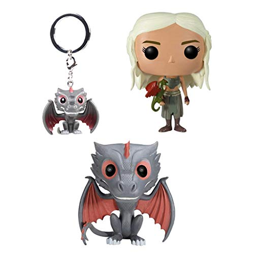 POP-Modell! Game Character Model (3 Stück) Black Dragon Dekoration Black Dragon Schlüsselanhänger -