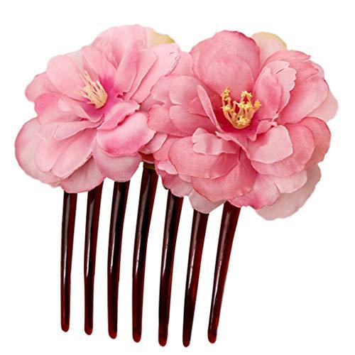 Haarkamm mit Blumen, Brautschmuck, für Hochzeit, Abend-Party, Verabredungen, Geschenk für Mutter oder Liebhaber -