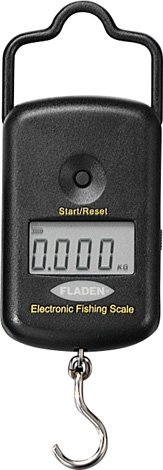 Fladen pesca pantalla Digital báscula electrónica de peces escalas 5KG/LB/kg y 25kg/55Lbs Set-para un peso de peces de agua dulce y salada, Dark Grey - up to 5kg / 11lbs
