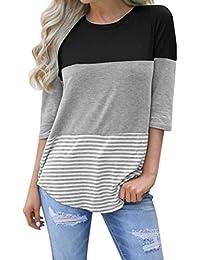 a3cdc7c7beb59 Amazon.es  Rayas - Blusas y camisas   Camisetas