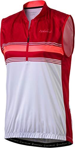 Nakamura Damen-Radsport-Bike-Fahrrad-Trikot ärmelloses Trikot Davagna rot Weiss, Größe:36 -