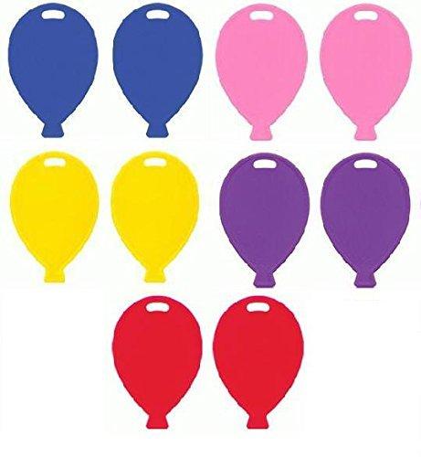 en Kunststoff- Ballon geformt Gewichte - 10er Packung ()