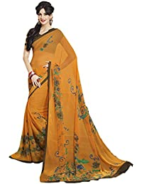 Vastrang Sarees Georgette Saree (S10411791A_Goldy Yellow)