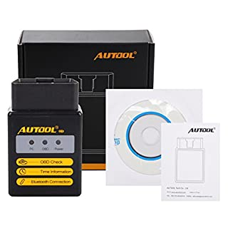 AUTOOL ELM327 Bluetooth V2.1 Universal OBD2 OBDII Diagnose Code Scanner Adapter Wireless Auto Check Engine Licht Clear Trouble Codes Tool für Android und Windows System