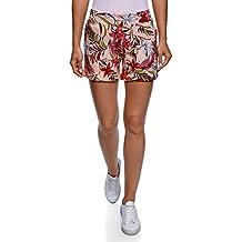 oodji Ultra Mujer Pantalones Cortos Estampados de Algodón 97e411fba81d