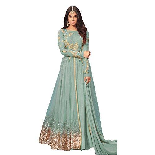 Anarkali for women\'s ( SHOPONBIT Present Net Semi-Stitched Anarkali Suit for women\'s color Top :- Sky Blue Bottom :- Sky Blue Dupatta :- Sky Blue Occasion :- party wear::occasion wear::festival wear