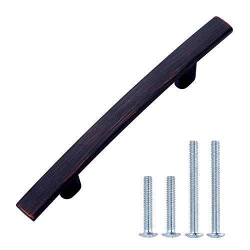 AmazonBasics - Schubladengriff, modern, gewölbt, Länge: 13,33 cm (Lochmitte zu Lochmitte: 7,62 cm), Geöltes Bronze, 10er-Pack