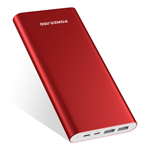 POWERADD 4GS Plus Powerbank 20,000mAh Caricabatterie portatile con Un input per i dispositivi di Apple e un input di Micro USB, è compatibile con iPhone, Samsung Galaxy, Huawei e altri