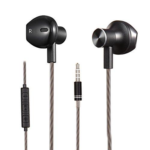 gestop In Ear Kopfhörer In-Ear Stereo Ohrhörer inklusive Mikrofon für alle Modelle wie z.B. Sony, Samsung, LG, Huawei, HTC, uvm (schwarz) …