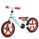 GSDZN - Kinder Laufrad Lauflernrad Kinderrad  Gummirad  Mit Schutzausrüstung  2-6 Jahre  Verstellbarer Lenker, Sitzhöhe Und Standfuß - Leichtgewicht  Nettogewicht 3 Kg,B-Blue