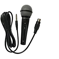 "DM-525 / EK-525 Professional Uni Directional dynamic wired microphone complete with connecting cables (6.35mm - 1/4"" jack plug) - Silver / Black"