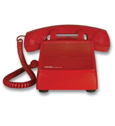 Viking Electronics Viking Line (NEW Hot line Desk Phone - Red (Installation Equipment) by Viking)