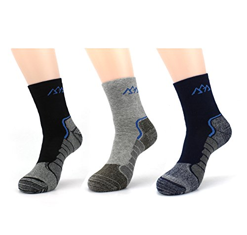 Waymoda 3 Pairs Unisex Winter Thick Warm Coolmax Hiking Socks, Breathable, full fluffy inside, Absorb shock Cushion, No Blister, Outdoor Sports Running Trekking Walking Climbing Trainer (Halloween Niedliche Für Kindergarten Aktivitäten)