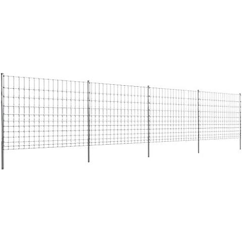 Cerca 50 m Con Poste Galvanizado Cerca de Alambre 150/12/15