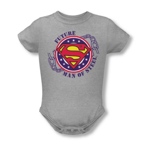 Superman - - Infant Future Man Of Steel Onesie Dans Heather, 6 Months, Heather