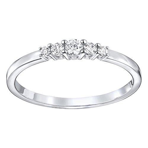 Swarovski Frisson Ring, Weiss, rhodiniert