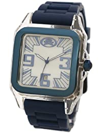 EX The Ego Watch with Blue and White Dial and Blue Silicone Strap EX-26-G03