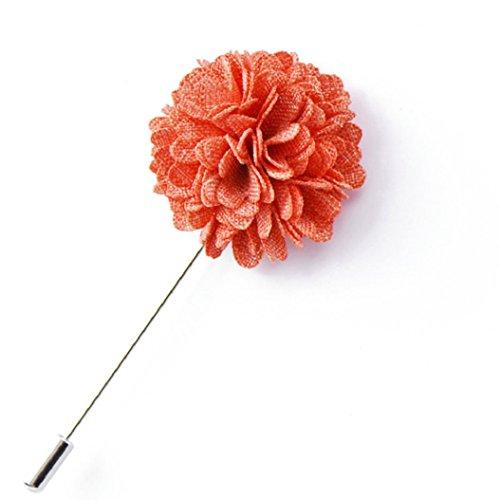 Bodhi2000 Herren Revers Stick Brosche Pin Blume Handgefertigte Boutonniere für Anzug Tuxedo (Prom Tuxedo Männer)