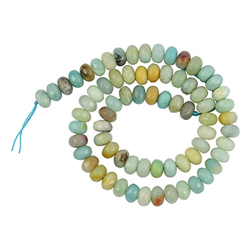 D dolity perline rondelle sfaccettate amazzonite naturale fai da te i risultati dei gioielli facendo mestieri