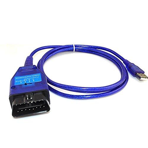 Shine @ interfaccia diagnostica cavo strumento VAG 409USB per Flat ECU Scan OBDII auto con interruttore blu