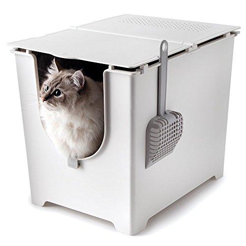 #Modko Modkat: Innovative Katzentoilette Katzenklo mit Klappdeckel FLIP#