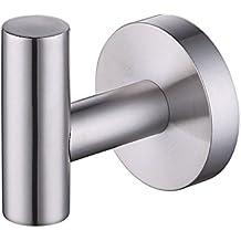 Umi. Essentials - Gancio singolo per accappatoio in acciaio inox spazzolato, montaggio a parete
