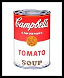 Andy Warhol Campbells Soup I Tomato 1968 Poster Kunstdruck Bild im Alu Rahmen schwarz 42x34cm - Germanposters