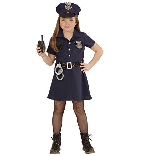 Karneval-Klamotten Kostüm Polizistin Sonja Mädchen Karneval Polizei Mädchenkostüm Größe 128