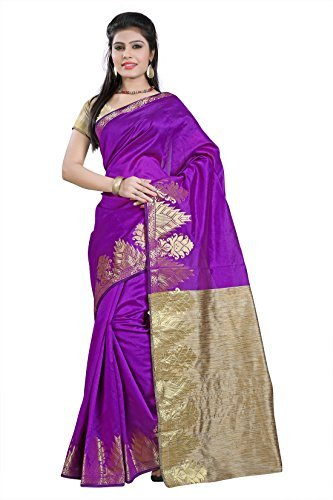 e-VASTRAM Women Dupion Cotton Silk Saree (DSW-5, Pink)