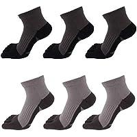 AIEOE - Pack de Calcetines de Dedos para Hombre Transpirable de Algodón Calcetines Deportivos Cortos para