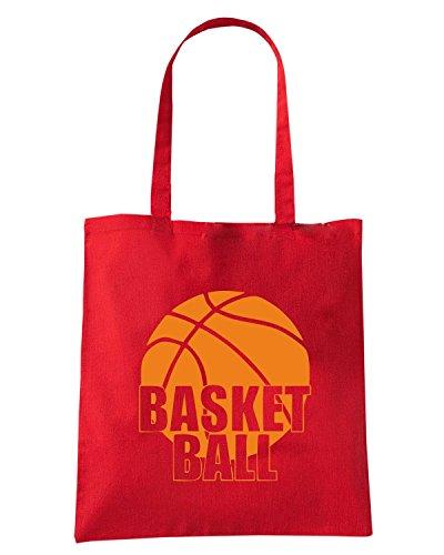 T-Shirtshock - Borsa Shopping SP0021 Basket Ball Sport Maglietta Rosso