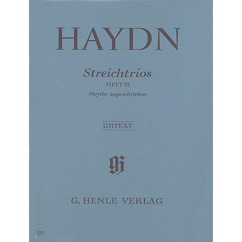 FRANZ JOSEPH HAYDN: STREICHTRIOS HEFT III  PARTITURAS PARA INSTRUMENTOS DE CUERDAS