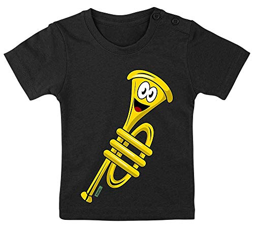 Kostüm Rocker Männlich - HARIZ Baby T-Shirt Trompete Lachend Instrument Kind Witizg Plus Geschenkkarte Pinguin Schwarz 15-24 Monate / 80-92cm