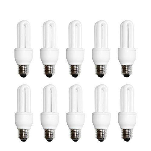 10 x näve Energiesparlampe Röhre 9W E27 warmweiß 2700K