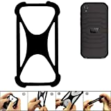 K-S-Trade Handyhülle für Caterpillar Cat S41 Single-SIM Schutz Hülle Silikon Bumper Cover Case Silikoncase TPU Softcase Schutzhülle Smartphone Stoßschutz, schwarz (1x)