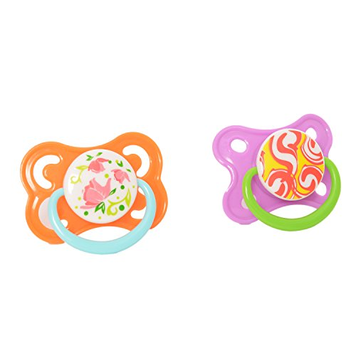 Buddyboo 145039 Dynamic Soothers Spark Teethers (2 Pieces, Violet/Orange)
